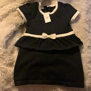New Baby gap black knitted dress